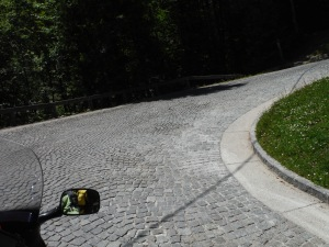 Cobblestone roads in Slovenia