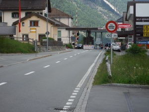 Swiss border crossing.