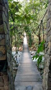Crossing Foot Bridge to Jaguar Spa