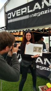 Helmut and Bettina with their article in Overland Magazine