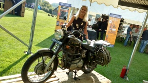 Jacqui Furneaux and her Enfield.