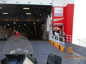 Catching the ferry from Bari, Italy to Igoumenitsa